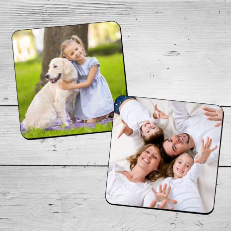 Personalised PHOTO Coasters x 2
